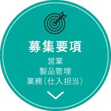 募集要項 営業 製品管理 業務(仕入担当)